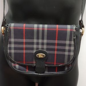 Vintage Blue Burberry Crossbody Bag